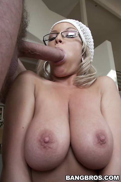 Big titted blonde in glasses..
