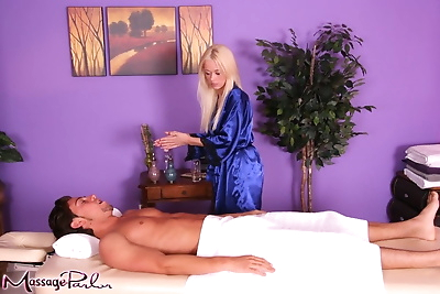 Blonde massage therapist..
