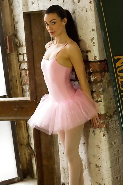 Dark haired ballerina Tanya..
