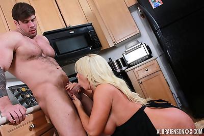 Blonde housewife Alura..