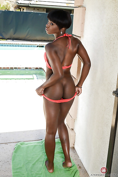 Amateur ebony model Ana..