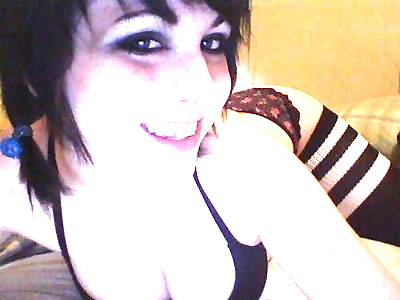 Shots of emo chick flaunting..
