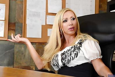 Blonde Nikki Benz was..