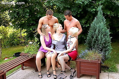 Classy females indulge in..